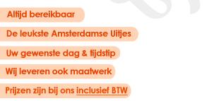Wij organiseren uw bedrijfsuitje, vrijgezellenfeest, themafeest, familieuitje en veel meer groepsuitjes & activiteiten in Amsterdam!