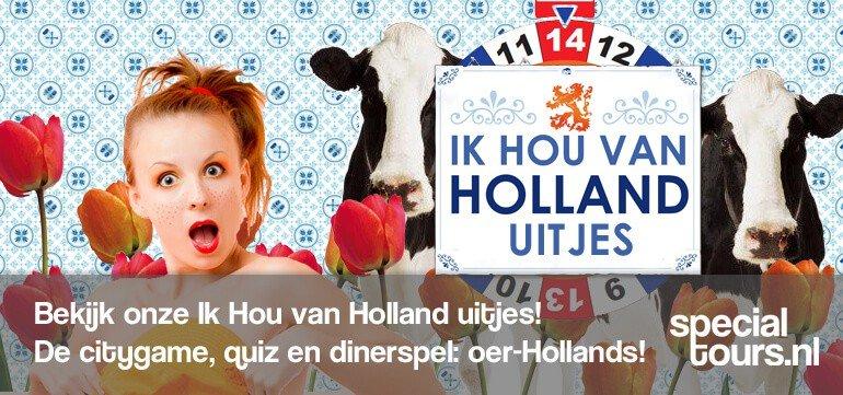 ik hou van holland dinerspel amsterdam - Amsterdam Tour - Bedrijfsuitje Amsterdam? Vrijgezellenfeest Amsterdam? Dagje uit? De leukste uitjes van Amsterdam boek je bij Specialtours!